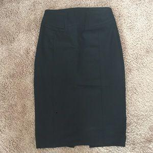 High-waist pencil skirt, size 4.
